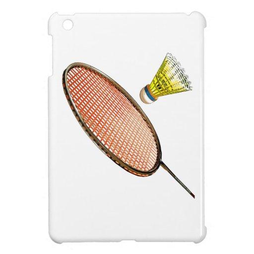 Badminton racket and shuttlecock iPad mini covers