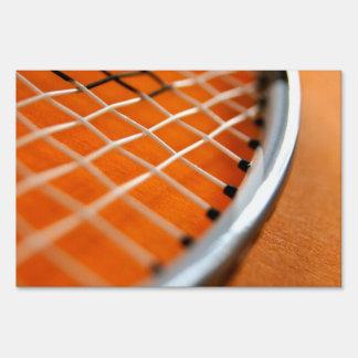 Badminton Racket Yard Signs