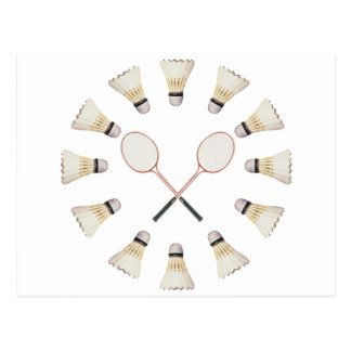 Badminton Rackets Postcard
