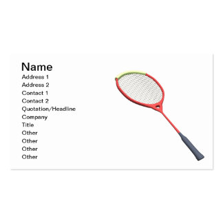 Badminton Racquet Double-Sided Standard Business Cards (Pack Of 100)