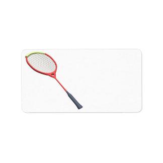 Badminton Racquet Label