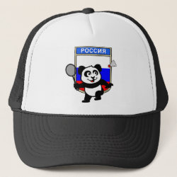 Trucker Hat with Russia Badminton Panda design
