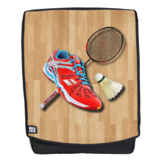 Badminton Shoe Racket Shuttlecock With Your Name Backpack