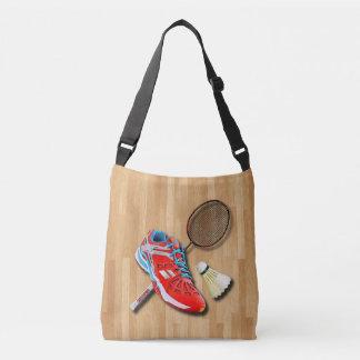 Badminton Shoe Racket Shuttlecock With Your Name Crossbody Bag
