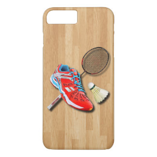 Badminton Shoe Racket Shuttlecock With Your Name iPhone 8 Plus/7 Plus Case