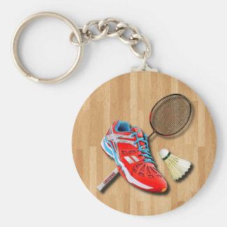 Badminton Shoe Racket Shuttlecock With Your Name Keychain