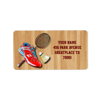 Badminton Shoe Racket Shuttlecock With Your Name Label