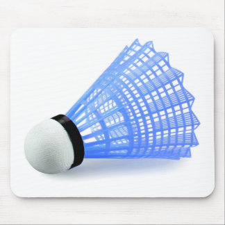 Badminton Shuttlecock Birdie Blue Sports Mouse Pad
