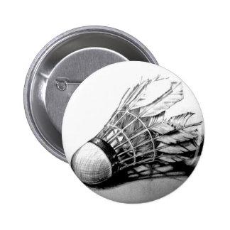 Badminton shuttlecock button pin