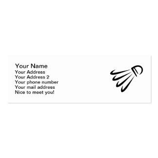 Badminton shuttlecock mini business card