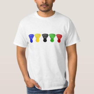 badminton shuttlecock  sports t-shirt