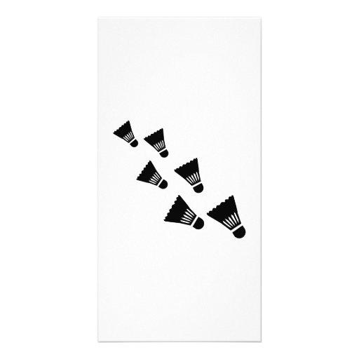 Badminton Shuttlecocks Photo Greeting Card