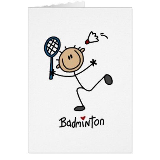 Badminton Stick Figure Card