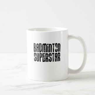 Badminton Superstar Classic White Coffee Mug