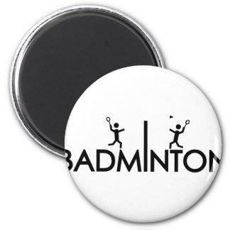 badminton text icon magnet