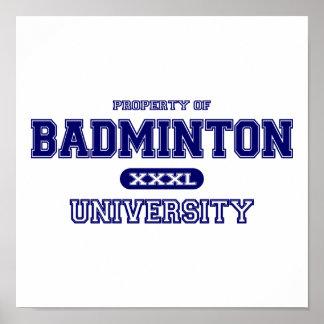 Badminton University Poster