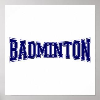 Badminton University Style Poster