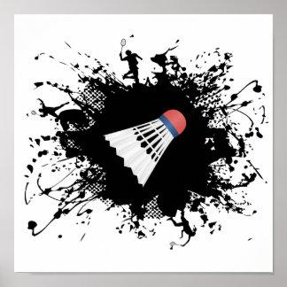 Badminton Urban Style Poster