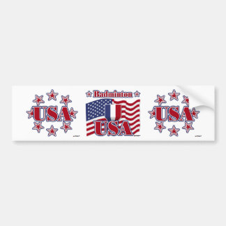 Badminton USA Bumper Sticker