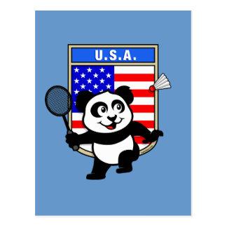 Badminton USA Panda Postcard