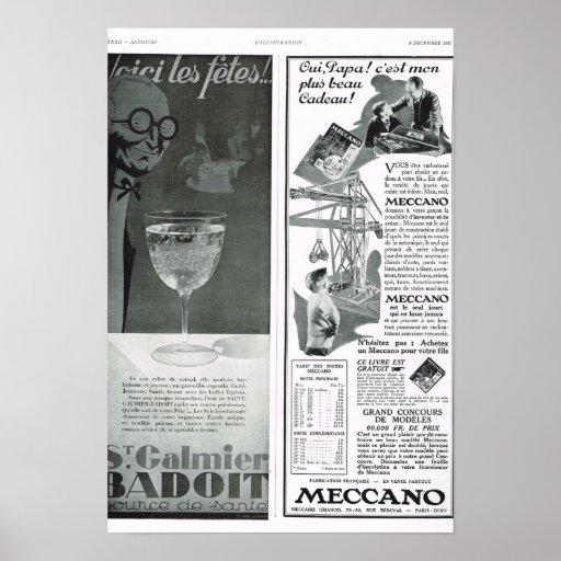 Badoit, Meccano Posters