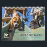 """BADRAP 2018 Rescue Barn Shenanigans! Calendar<br><div class=""""desc"""">Your favorite faces from BADRAP&#39;s Adoption Program. Celebrate their happiness every month of the year.</div>"""