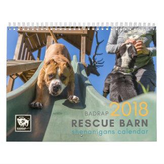 BADRAP 2018 Rescue Barn Shenanigans! Calendar