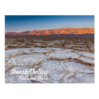 Badwater Salt Flat sunrise in Death Valley Postcard