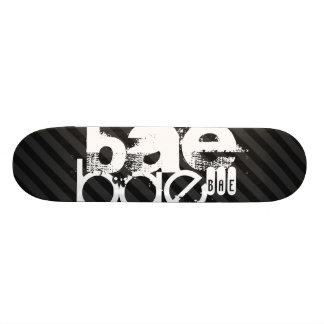 Bae; Black & Dark Gray Stripes Skateboard Deck