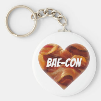 BAE-CON - For Bacon Lovers Everywhere Basic Round Button Keychain