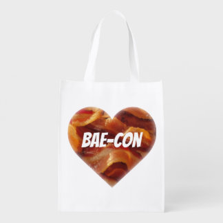 BAE-CON - For Bacon Lovers Everywhere Grocery Bags