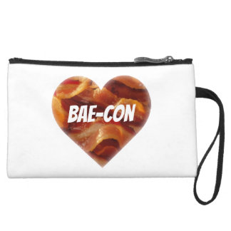 BAE-CON - For Bacon Lovers Everywhere Suede Wristlet