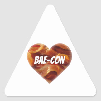 BAE-CON - For Bacon Lovers Everywhere Triangle Sticker