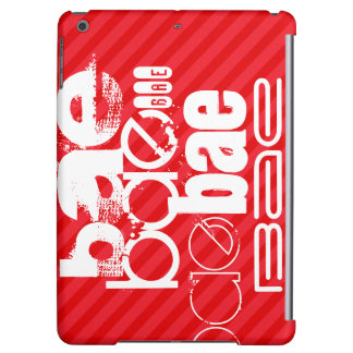 Bae; Scarlet Red Stripes Cover For iPad Air