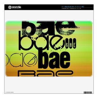 Bae; Vibrant Green, Orange, & Yellow Skin For The MacBook Air