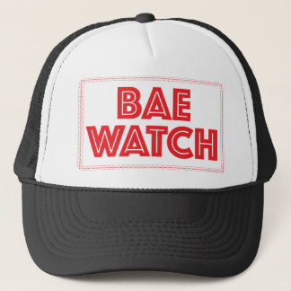 Bae watch funny bay watch movie reference trucker hat