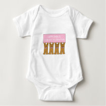 Baek-il 100th Day Birthday forKorean  female. Baby Bodysuit