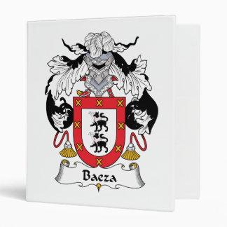 Baeza Family Crest 3 Ring Binder