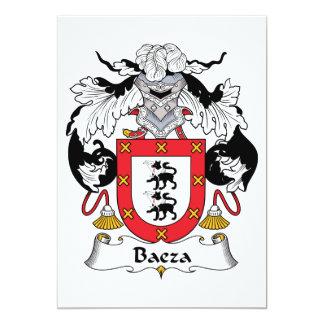 Baeza Family Crest Custom Invites