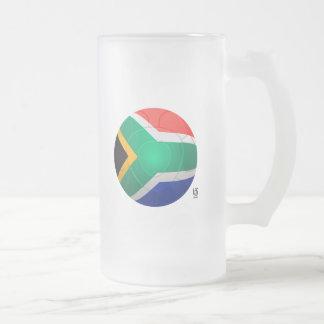 Bafana Bafana - South Africa Football Frosted Glass Beer Mug