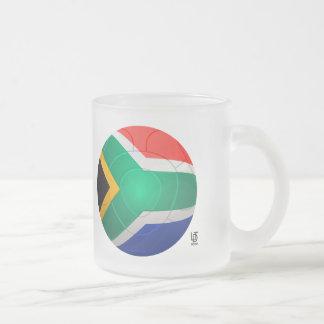 Bafana Bafana - South Africa Football Frosted Glass Coffee Mug