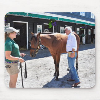 Baffert Checking under the Hood Mouse Pad