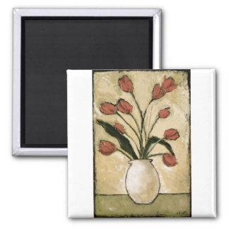 BAG10-V2 Tulips in Red.tif Magnet