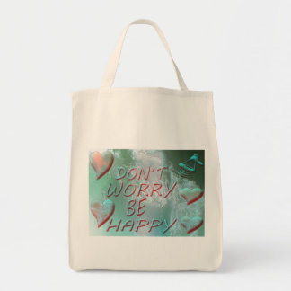 BAG-100% organic cotton. DON'T WORRY BE HAPPY Tote Bag