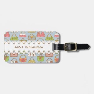 Bag-a-Holic (Blue) Personalized Luggage Tag