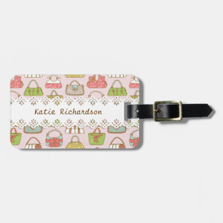 Bag-a-Holic (Pink) Personalized Luggage Tag