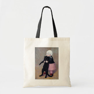 Bag:  A Small Girl with A Cat - Theophile Steinlen Budget Tote Bag