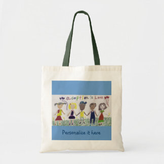 Bag, Adoption Is Love Tote Bag
