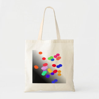 Bag blue red green yellow bubbles