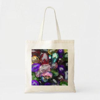 Bag, Canvas, Economy, Purple Stones, P1010034